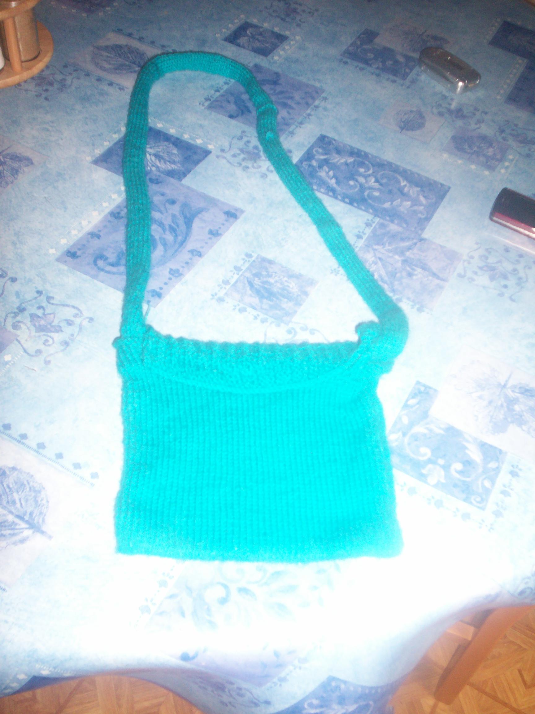 petit sac turquoise